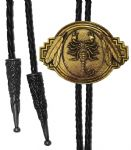 24ct. Gold Plated Scorpion Bolo Tie. Code BTWW8G
